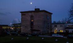 Bunker-D im Mondschein.