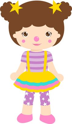 Girl Circus Clipart - Oh My Fiesta! in english Circus Birthday, Circus Theme, Circus Party, Circus Crafts, Beatles Party, Cute Clipart, The Little Prince, Cute Images, Lilo And Stitch
