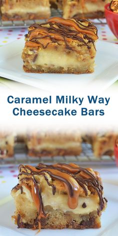 These Caramel Milky Way Cheesecake Bars are delicious! The whole family will love them! Healthy Christmas Recipes, Best Dessert Recipes, Fun Desserts, Cookie Recipes, Delicious Desserts, Yummy Food, Delicious Cookies, Recipes Dinner, Easy Recipes