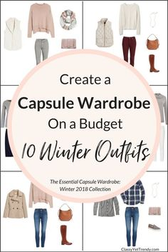 Essential #Capsule Wardrobe 10 Winter 2018 #Outfits, #momstyle