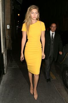 love a bold colored sheath dress