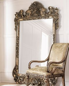 <3 Damatically sized mirror stands a commanding seven feet tall.