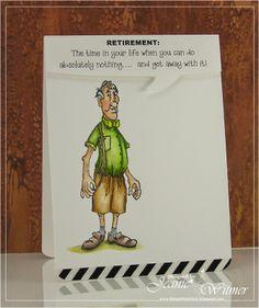 Retirement, Art Impressions, Golden Oldies  Bud (Sku#I1246) handmade card