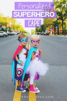 This Halloween, find your little girl the perfect superhero costume! Our handmade superhero capes are perfect for girls of all ages. Each cape is made from quality washable satin, double sided with 2 colors. The felt design is made from eco-fi felt and sewn into place securely using high grade sewing equipment to withstand any adventure! Our capes are perfect for birthday parties, dress-up at school, goodie bags, Christmas presents, or just for playing pretend. Visit us at superkidcapes.com! Orange Gloves, Green Gloves, Superhero Dress Up, Superhero Capes, Red Mask, Blue Mask, Cape Designs, Capes For Kids