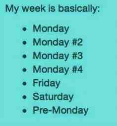 Isn't this everyones week?