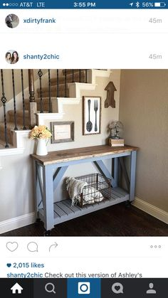 20 Beautifully Rustic Entry Table Ideas Blending Storage with Decor At Their Best! Decor, Furniture, Diy Home Decor, Home, Interior, Home Diy, Furniture Projects, Diy Furniture, Home Decor