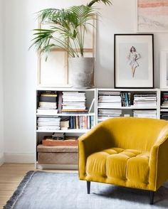 Beautiful Velvet Mustard Chair | www.tonicliving.com/pages/custom-work