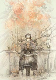 Bloodborne - The Doll Bloodborne Art, Old Blood, Soul Game, Soft Wallpaper, Dark Souls, Demon's Souls, Video Game Art, Pretty Art, Beautiful Artwork