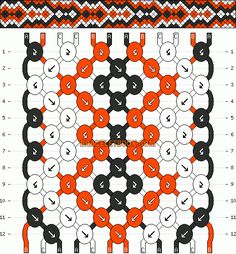 Normal Friendship Bracelet Pattern #4674 - BraceletBook.com