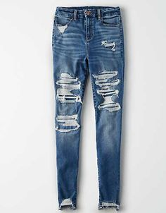 Shop Curvy High-Waisted Jeggings at American Eagle to find your new favorite fit. Designed for curves and made for you, curvy jeans feel as good as they look. High Waist Jeggings, High Waisted Black Jeans, Hot Outfits, Jean Outfits, Fashion Outfits, Fashion Tips, Fashion Trends, Cute Ripped Jeans, Skinny Jeans