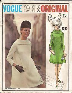 Vogue 1895 Sewing Pattern Vintage Pierre Cardin Sewing Pattern Vogue Paris Original Vintage Clothing Dress Designer Pattern Supplies Sewing. $48.00, via Etsy.