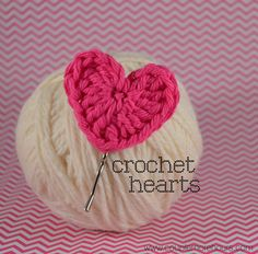 These crochet hearts are simple and fast to stitch up and they are the perfect stash buster! I sat down one evening in front of the TV and made 20 or so hearts in no time.Here's the pattern:You can...