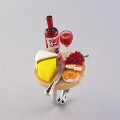 Romantic Dinner Miniature Food Ring Miniature Food by cuties4you