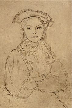 Girl with Beret - Jean Baptiste Camille Corot