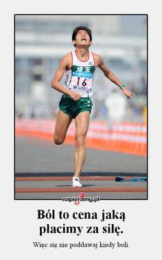 Ból to cena jaką płacimy za siłę. #motywacja #bieganie #ból #siła