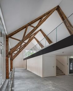 Century-old Swiss farm converted into housing and office complex.: