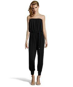 5e32ac92fbff Rachel Zoe black stretch jersey  Josephine  strapless jumpsuit