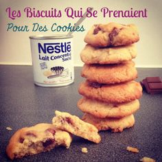 Biscuits au lait concentré sucré Cake Au Lait, Cas, My Favorite Food, Favorite Recipes, Sweet Little Things, Cookies Et Biscuits, Nutella, Cupcake Cakes, Sweet Tooth