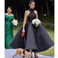 2018 Ball Gown Party Dresses Halter Sleeveless Sexy Hollow Back Ankle Length Puffy Skirt Prom Gowns 1950s Bridesmaid Dress, Alternative Bridesmaid Dresses, Couture Bridesmaid Dresses, Yellow Bridesmaid Dresses, Orange Prom Dresses, Pretty Prom Dresses, Elegant Prom Dresses, Wedding Party Dresses, Formal Wedding