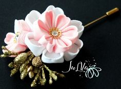 Pink Men's Flower Lapel Pin.Kanzashi fabric flower brooch.Kanzashi flower lapel pin.Pink Boutonniere lapel pin.Handmade Wedding Boutonniere. by JuLVa on Etsy