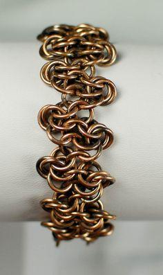 Antique Copper Rosette Bracelet - Ready to Ship on Etsy, $25.00