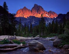 Alpine Glow on Mount Owen and Grand Teton from the North Fork of Cascade Canyon - Grand Teton National Park, Wyoming Grand Teton National Park, National Parks, Places To Travel, Places To See, Travel Destinations, Cities, Teton Mountains, Mountain Photos, Mountain Photography