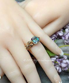 5933b9315 Vintage Swarovski Double Cut Crystal AB, Handmade Ring in 14K GF. Handmade RingsClear  CrystalWire ...