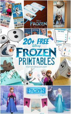 20+ Free Disney Frozen Printables