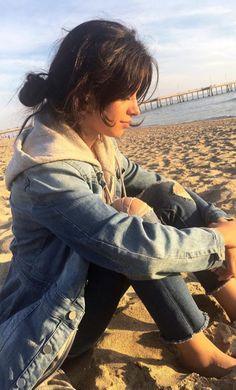 Camila Cabello on the beach