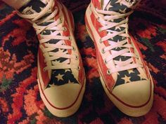 af80966dda74 USA flag Vintage CONVERSE Made in USA Original from by LanaPalace