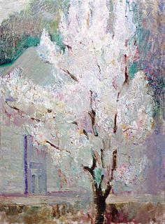 "Yury Ermolenko, ""Blooming tree"", 1995, oil on canvas, 80x60 cm. #YuryErmolenko #еrmolenko #ЮрийЕрмоленко #ермоленко #yuryermolenko #єрмоленкоюрiй #ermolenkoyury #ермоленкоюрий #юрийермоленко #юрийермоленкохудожник #юрiйєрмоленко #ЮрiйЄрмоленко #єрмоленко #rapanstudio #modernart #fineart #contemporaryart #painting #art #picture #живопись #texture #искусство #живописец #landscape #пейзаж #scenery  #живопис #малярство #contemporaryartgallery #MFA #дерево #BloomingTree #blooming #tree #bloom"