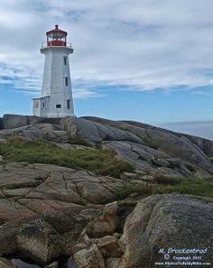 The Peggys Point Lighthouse, Peggys Cove, Nova Scotia Canada