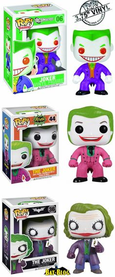 Funko POP! Vinyl Figures ~ The Joker: DC Universe, 1966 Batman Series, and Dark Knight Movie