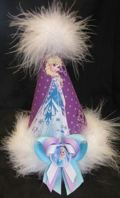 Frozen Elsa Birthday Party Hat Favors Supplies made with Disney Licensed Fabric