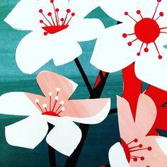 【mettra.uk】さんのInstagramをピンしています。 《Cherry blossom pattern. 桜のパターン。#cherryblossom #cherrytree #flowers #beautiful #pattern #illustration #graphic #drawing #printmaking #handdrawn #art #japanese #japan #traditional #japaneseculture #桜 #花 #夜桜 #綺麗 #パターン #イラスト #グラフィック #手描き #アート #日本 #日本文化 #和柄 #和風 #和モダン #伝統》