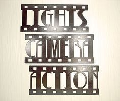 Home Decor Signs on Wall Art Home Decor Lights Camera Action Movie Theater Signs   Ebay