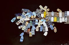 Dinghies Clustered Around Dock  Duxbury, Massachusetts - Alex S. MacLean