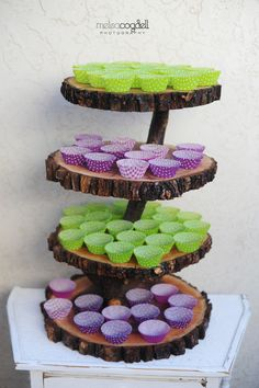 wooden cupcake stand rustic tree branch cake alternative