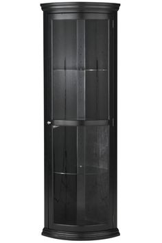 Sophie French Country Corner Curio - $369.00. This would be great for a simple, but elegantly sleek fine china cabinet (if you had coordinating china).