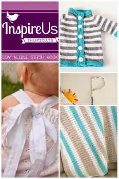 Inspire Us Thursdays: Sew Needle Stitch Hook. Join us for a weekly Link Party of sewing, knitting, cross-stitch, and crochet; of fabric, yar...