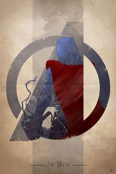AVENGERS Character Logo Art by Anthony Genuardi