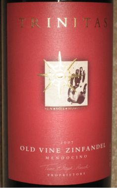 2008 Trinitas Old Vine Zinfandel - gift