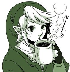 Coffee << dont give him coffee thats the last thing he needs. . . unless it builds up MP