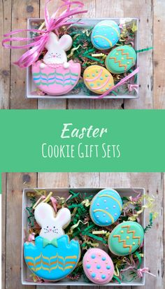 Easter egg cookies cookie connection a nice simple design for less easter cookie set easter bunny easter egg 4 piece gift set affiliate negle Images