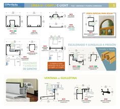 Línea U-Light y C-Light Perfiletto ®  Catálogo Virtual Perfiletto