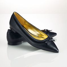 Ralph Lauren Leather Sally Flat on shopstyle.com