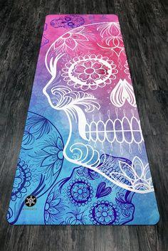 Sugar Skull Stencil, Yoga Party, Yoga Towel, Latex Free, Yoga Meditation, Yoga Inspiration, Make You Smile, Zentangle, Stencils