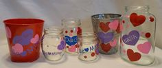 For kids of all ages. Finally a good use for all the big jars with out lit i kept for no reason ... I see vases and more vases in my future ---- decorated with vinyl!! Personalized DIY Vinyl Sticker Kit To Decorate by Crafterpillar, $9.90