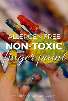 Homemade finger paint with vegetable dye. Store-bought finger paints can contain toxic chemicals and allergens that can harm your child. Here's a recipe for allergen-free, non-toxic finger paints. Baby Painting, Finger Painting, Natural Baby, Natural Living, Natural Kids, Craft Activities For Kids, Kid Activites, Baby Activities, Baby Footprints