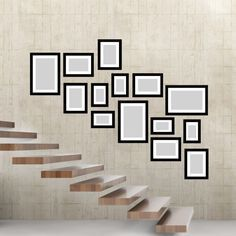 Head to our domain for a whole lot more information on this astonishing staircase wall Stair Photo Walls, Picture Wall Staircase, Staircase Wall Decor, Stairway Decorating, Stair Walls, Staircase Design, Stairs, Picture Walls, Picture Frames